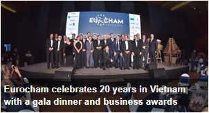 Eurocham celebrates 20 years in Vietnam with a gala dinner and business awards