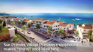 """Premier Village Primavera shophouse makes """"storm"""" once launching"""