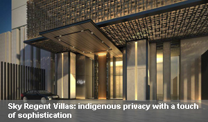 Sky Regent Villas: indigenous privacy with a touch of sophistication