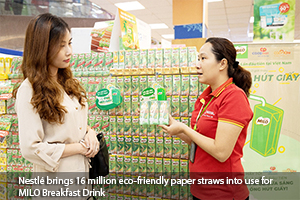 Nestlé brings 16 million eco-friendly paper straws into use for MILO Breakfast Drink