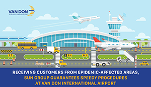 Infographic: Sun Group guarantees the speedy process at Van Don International Airport to receive passengers from the epidemic-stricken areas