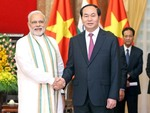In India, President Quang aims to boost bilateral trade ties