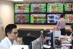 Shares up on bank, property stocks