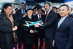 Party chief attends A350 aircraft transfer ceremony in France