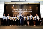 Lotte Foundation awarsd scholarships to HCM City students
