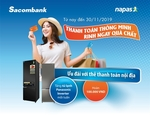 Sacombank domestic cards promotion programme offers cashback, refrigerator gifts