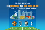 Watching International Champions Cup football match in Singapore with Sacombank cards