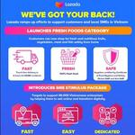 Lazada helps SMEs migrate online, adds fresh food category