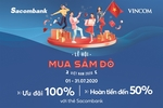 Sacombank cardholders get special offers for 'Red Sale Carnival' at Vincom malls