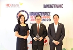 HDBank wins Asian Banking & Finance award for best retail bank in VN for 2nd straight year