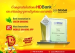 HDBank wins 2Global Business Outlook awards