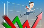 Shares inch higher on large-cap stocks