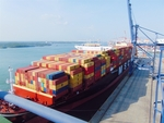 Ba Ria Vung Tauport receives giant container vessel