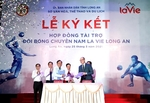 La Vie becomes main sponsor of Long An men's volleyball team