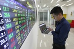 Shares continue to drop on large-cap stocks