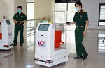 Military-developed robot sent to Bac Giang to support COVID-19 fight