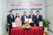 Shinhan Bank, Van Lang University become partners