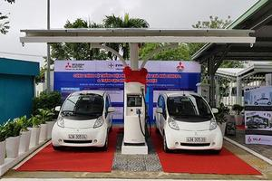 VN's first station for electric vehicles opens in Da Nang