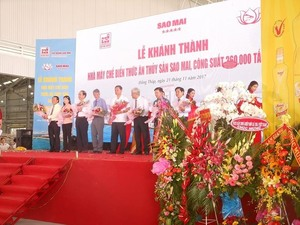 $35m aquatic feed plant opens in Dong Thap