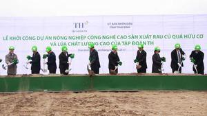First high-tech farming project begins in Thai Binh