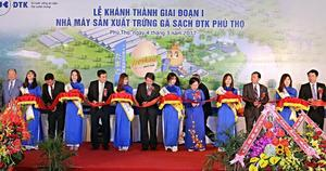 Large clean egg factory inaugurated in Phu Tho