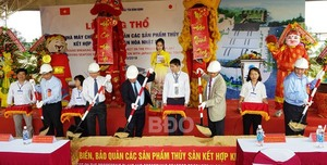 Japanese investor starts building seafood processing factory in Binh Dinh