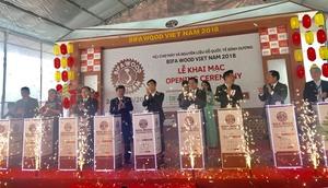 Int'l wood fair opens in Binh Duong