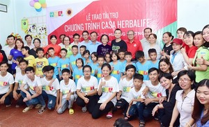 Herbalife Nutrition Foundation renews support for Hau Giang Province orphanage