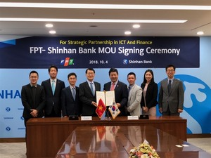 FPT and Shinhan Bank co-operate in digital banking