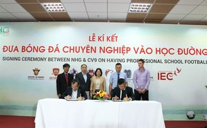 Nguyen Hoang Group collaborates with CV9 Academy to train students in football