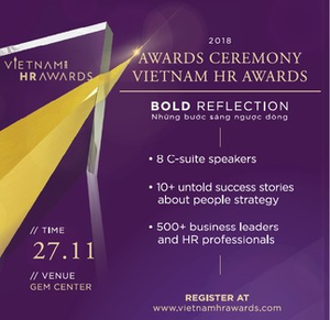 2018 Vietnam HR Awards to be given away this month