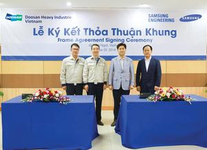 Doosan Vina, Samsung sign manufacturing deal