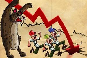 Dropping oil stocks push markets down