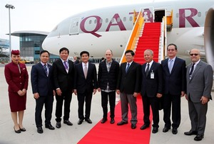 Qatar Airways launched direct flights to Da Nang