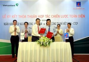 Vietcombank, PV GAS up co-operation
