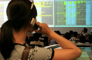 Shares up on banking, securities stocks