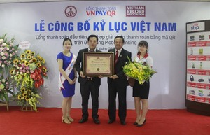 VN PAY recorded as only QR code developer on mobile banking apps