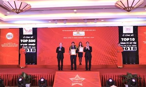Vietnam Airlines reaches top 10 best enterprises in VN