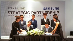 SonKim Land, Samsung to build smart homes