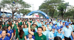 It is Lawrence S. Ting Charity Walk in HCM City