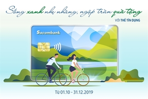 Sacombank unveils credit card promotion with attractive gifts