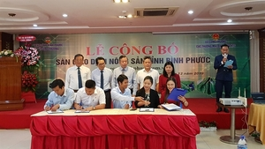 Binh Phuoc opens agricultural product trading floor
