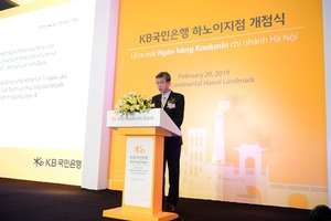 Kookmin Bank opens first branch in Ha Noi