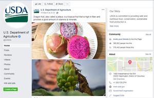 USDA post about benefits of dragon fruit, a crucial export of Viet Nam