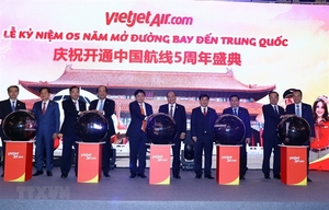 Vietjet marks fifth anniversary of flights to China