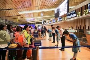 Van Don Airport receives first international flight
