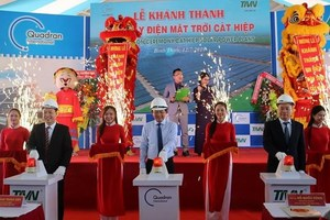 Binh Dinh's first solar power plant opens