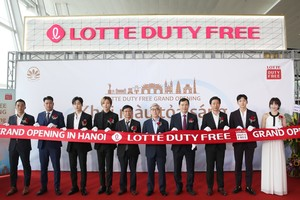 Lotte Duty Free store opens in Noi Bai Airport
