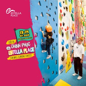Rock climbing competition for kids in HCM City