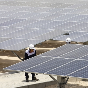 IFC high-level delegation to tourfirst private grid-connected solar farm